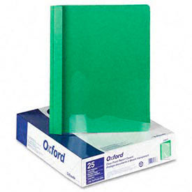 Clear Front Report Covers With Green Leatherette Back, 25 Per Box by