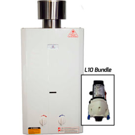 Eccotemp L10 Outdoor Tankless Water Heater & Flojet Pump 20kW, 2.65 GPM by