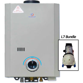 Eccotemp L7 Portable Tankless Water Heater & Flojet Pump 14kW, 1.7 GPM by