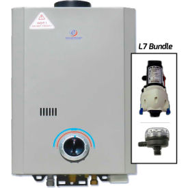 Eccotemp L7 Portable Tankless Water Heater W/ Flojet Pump & Strainer 14kW, 1.7 GPM by