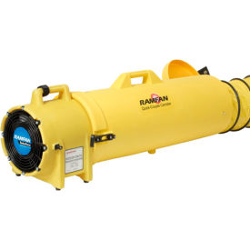 """Euramco Safety 8"""" Confined Space Blower with 15' Duct ED7015 1/3 HP 980 CFM"""