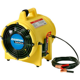 "Ramfan 8"" Confined Space Blower UB20-12V  1/4 HP 862 CFM"