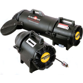 "Ramfan 8"" UB20xx Intrinsically Safe Blower With Canister and 25' Duct  1/3 HP 980 CFM"