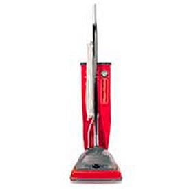 Sanitaire® 9-1/2 Qt. Commercial Upright Vacuum W/ Allergen Filtration, Red/Gray - EUKSC688A