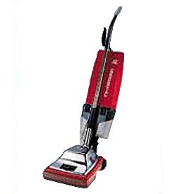 """Sanitaire® 12"""" Commercial Upright Vacuum 7 Amp W/ EZ Kleen® Dust Cup, Red/Steel - EUK887"""