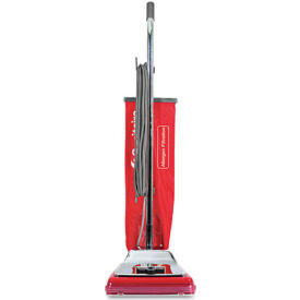 Sanitaire® Heavy Duty Commercial Upright Vacuum W/ Micron Filter®, Chrome/Red - EUKSC888K