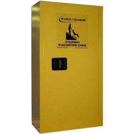 "Evac+Chair® 314 Metal Storage Cabinet, 24""W x 12""D x 44""H, Yellow"