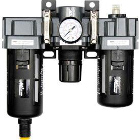 "Exelair EX45FRL40A-02P Filter/Regulator/Lubricator Polycarbonate Bowl 1/4"" NPT 145 PSI40 Micron"