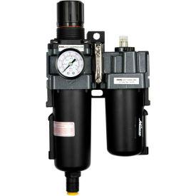 "Exelair EX45PBL40A-04M Filter/Regulator/Lubricator Metal Bowl 1/2"" NPT 145 PSI 40 Micron"