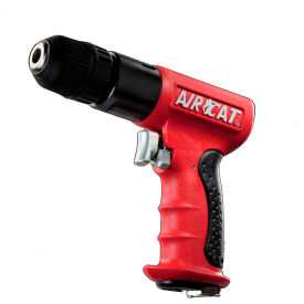 "AIRCAT 4338, 3/8"" Pistol Air Drill, 0.625 HP, 1800 RPM, 4 CFM, Reversible, 90-120 PSI"