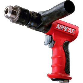 "AIRCAT 4450, 1/2"" Pistol Air Drill, 0.625 HP, 400 RPM, 4 CFM, Reversible, 90-120 PSI"