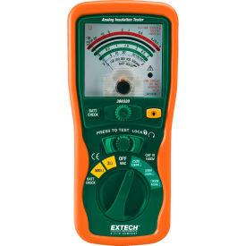 "Extech 380320 Analog Insulation Tester, Green/Orange, 0 to 600V, 7.9""L"