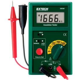 Extech 380360-NIST Digital Megohmmeter, Green NIST Certified by