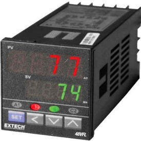 Extech 48VFL11 Temperature PID Controller W/One Relay Output, Black, Digital by