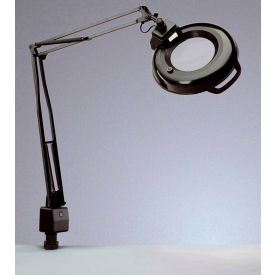 """Electrix 7122 5-Diopter Lens Fluorescent Magnifier W/Clamp-On, 45"""" Reach, 120V, 22W"""