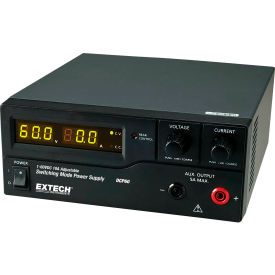 Extech DCP60-220 Switching Power Supply, Front Output, Plastic/ Metal