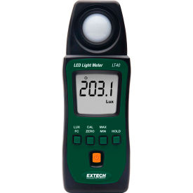 "Extech LT40 LED Light Meter, Battery, Case Included, 1""W by"