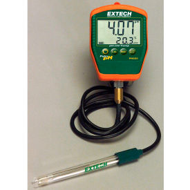 Extech PH220-C Waterproof Palm pH Meter W/Temperature, Electrode W/ Cable by
