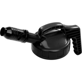 Oil Safe Stumpy Pour Spout Lid, Black, 100501