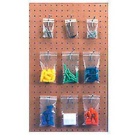 "Reclosable Polyethylene Bag With Hang Hole 3"" x 2-1/2"" 4 Mil 1,000 Pack"