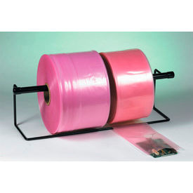 "Anti-Static Poly Tubing 24"" x 2150' 2 Mil Pink Roll"