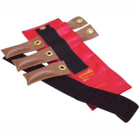 Pouch® Adjustable Wrist and Ankle Weight, 2.5 lb., Red, 1 Set