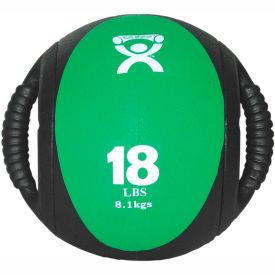 """CanDo® Dual-Handle Medicine Ball, 18 lb., 9"""" Dia (23 cm), Green"""