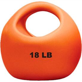 "CanDo® One-Handle Medicine Ball, 18 lb., 9"" Diameter, Gold"