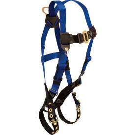 FallTech® 7016 Contractor 1-D Full Body Harness, 1 Back D-ring, Size UniFit