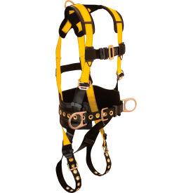 FallTech® 7035M Journeyman 3-D Full Body Harness, 3 D-rings, Size Medium