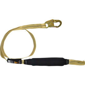 FallTech® 8242L Arc Flash/Soft Pack 6' Shock Absorbing Lanyard, with 1 Loop & 1 Snap Hook