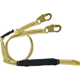 FallTech® 8242YL Arc Flash/Soft Pack 6' Shock Absorbing Lanyard, with 1 Loop & 2 Snap Hooks
