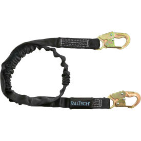 FallTech® 8246 Heavyweight 6' Shock Absorbing Lanyard, Single Leg, with 2 Snap Hooks