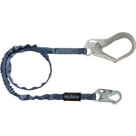 FallTech® 82593 Internal 6' Shock Absorbing Lanyard, Single Leg, with 1 Snap Hook& 1 Rebar Hook