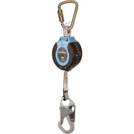 FallTech® 82706SB1 DuraTech 6' Compact Web SRD, with Steel Carabiner and Snap Hook