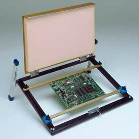 """Fancort 12"""" Low-Profile Flip-Rak Rotary Bench-Top PCB Assembly Fixture w/Cover"""