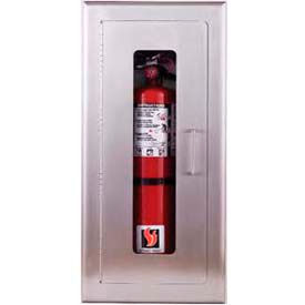 "Elite Series Fully-Recessed Full Glass Extinguisher Cabinet, 8""W x 16-3/4""H x 5""D"