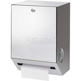 A&J Washroom Roll Towel Dispenser U169HF-SR, Hands-Free, Semi-Recessed