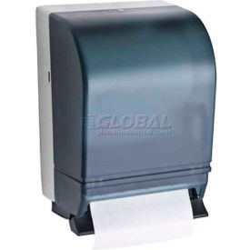 A&J Washroom Roll Towel Dispenser U199FL, Full Width, Lever Operated, ABS, Surface Mounted