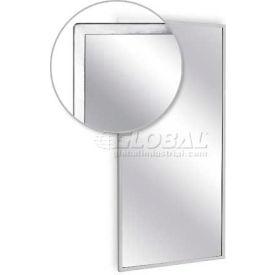 """A&J Washroom Angle Frame Mirror U700-7236, 72""""W x 36""""H, Plate Glass Surface"""