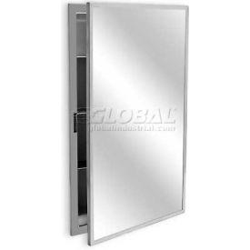 "A&J Washroom Medicine Cabinet, 18""W x 4-7/8""D x 24""H, Semi-Recessed with 2"" Skirt"
