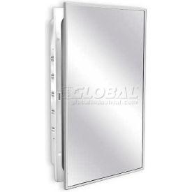 "A&J Washroom White Enamel Medicine Cabinet, 16-1/8""W x 4-1/2""D x 26-1/8""H, Surface Mounted"