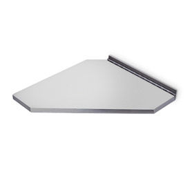 A&J Washroom Corner Shower Seat U930, Retractable, Stainless Steel, Surface Mounted