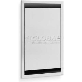 """A&J Washroom Single Bed Pan Cabinet, 17-1/4""""W x 6-1/4""""D x 27-1/4""""H, Semi-Recessed with 2"""" Skirt"""