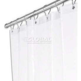 "A&J Washroom Shower Curtain UX250P-3672, 36""W x 72""H, Anti-Bacterial Vinyl"