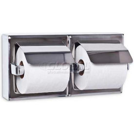 A&J Washroom Toilet Tissue Dispenser UX76-BF-SM, Dual, Bright, Hooded, Surface Mounted