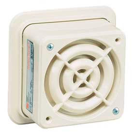 "Federal Signal 50GC-120BG SelecTone; signal, 120VAC, 4"" square, beige"