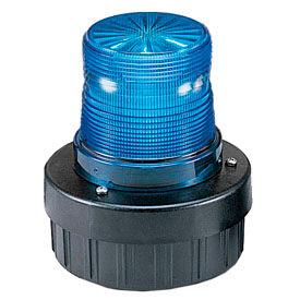 Federal Signal AV1-LED-024B Combination Audible/Visual Signal, flashing, 24VDC, Blue