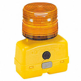 Federal Signal BPL26L-A Strobe light, battery-poweRed 12VDC, Amber