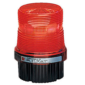Federal Signal FB2PST-012-024R Strobe, 12-24VDC, pipe/surface mount, Red